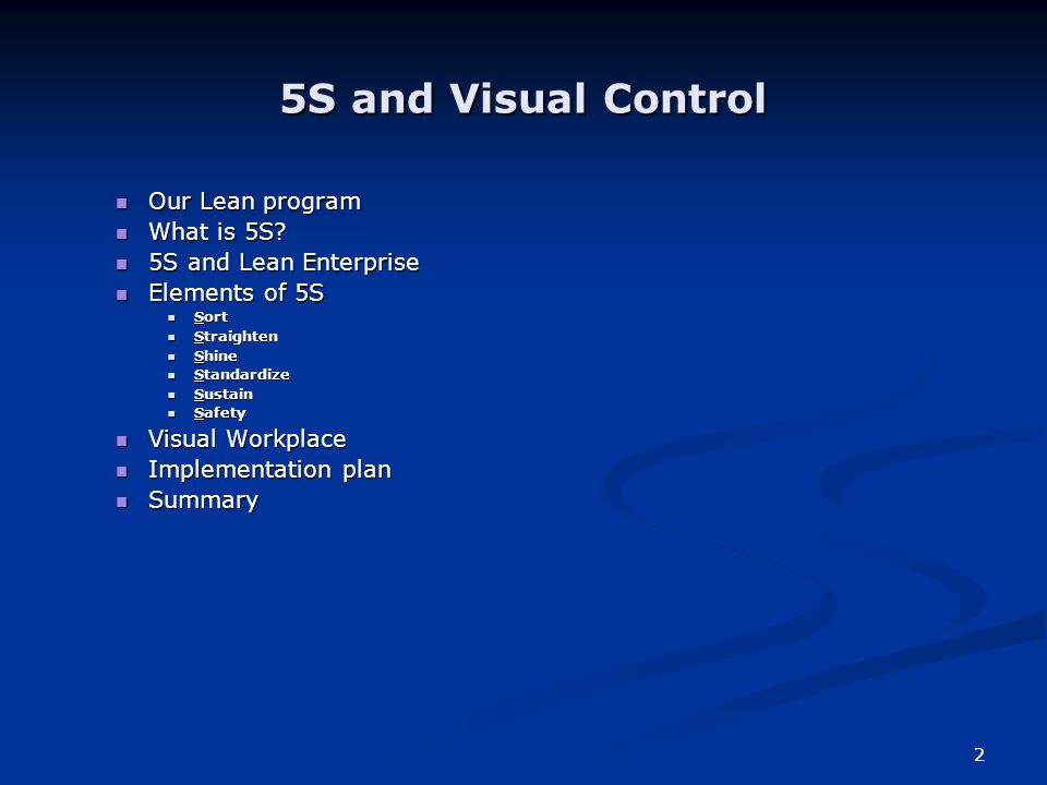 1 Lean Office - 5S and Visual Controls - ppt download