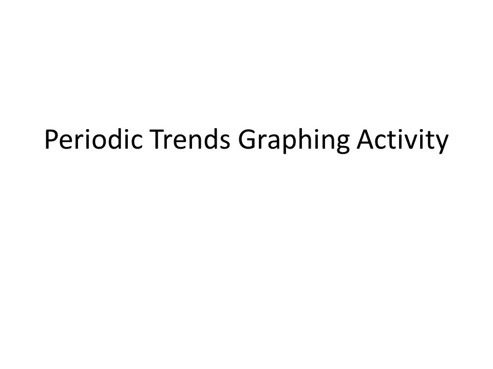 Periodic trends graphing activity objective today i will be able 1 periodic trends graphing activity urtaz Image collections