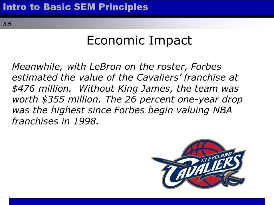 a1a704643915 Lesson 3.5 – Economic Impact. 3.5 Intro to Basic SEM Principles ...