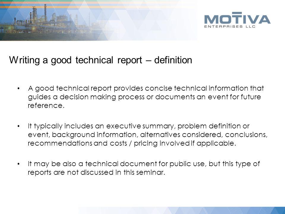 Writing a good technical report Lamar University 10/21/ ppt