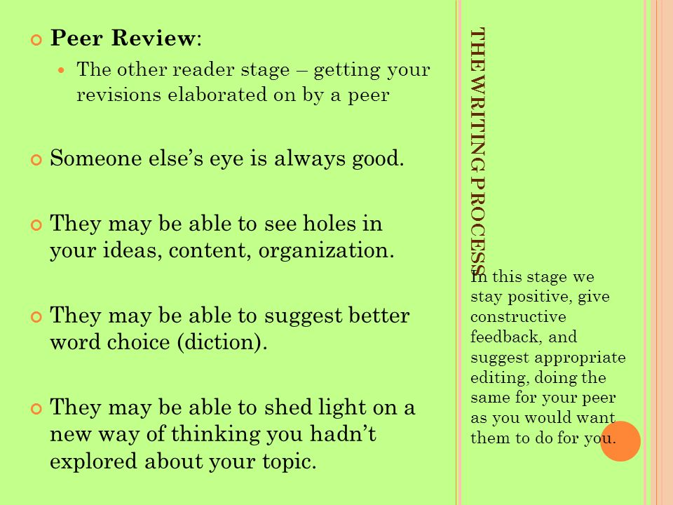 how to give good feedback on writing