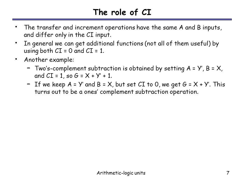 arithmetic logic unit example
