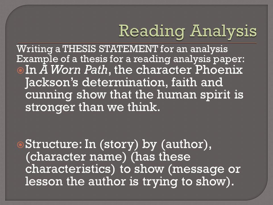 a worn path theme analysis