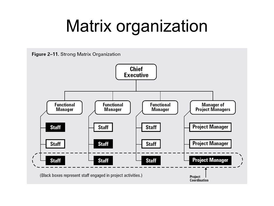 benefits of matrix structure
