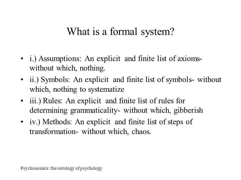 Psychonomics The Ontology Of Psychology Psychonomics The Ontology