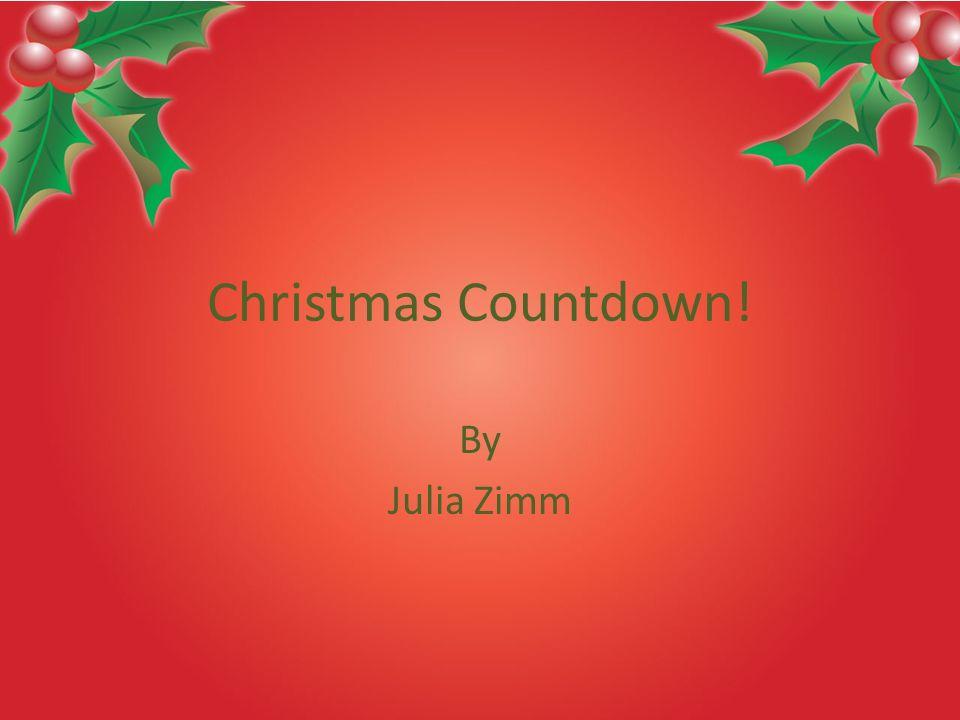 1 christmas countdown by julia zimm