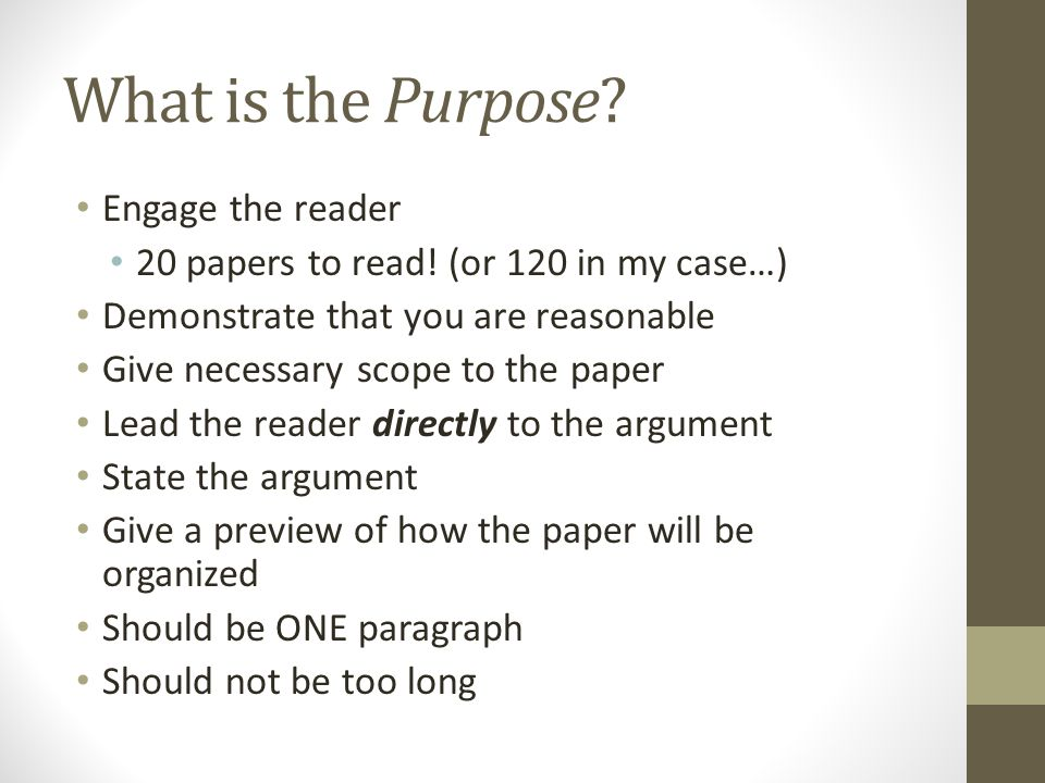 the purpose of research writing