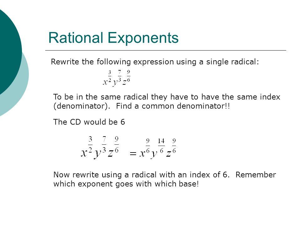 write as a single radical expression calculator