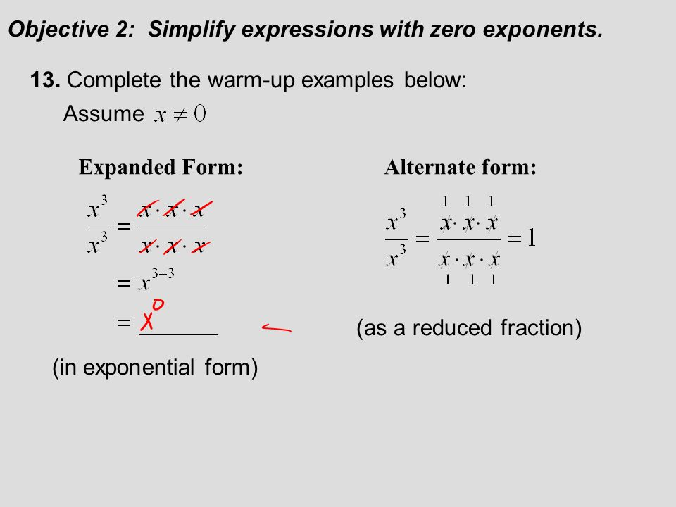 Section 52 Quotient Rule And Zero Exponents 52 Lecture Guide