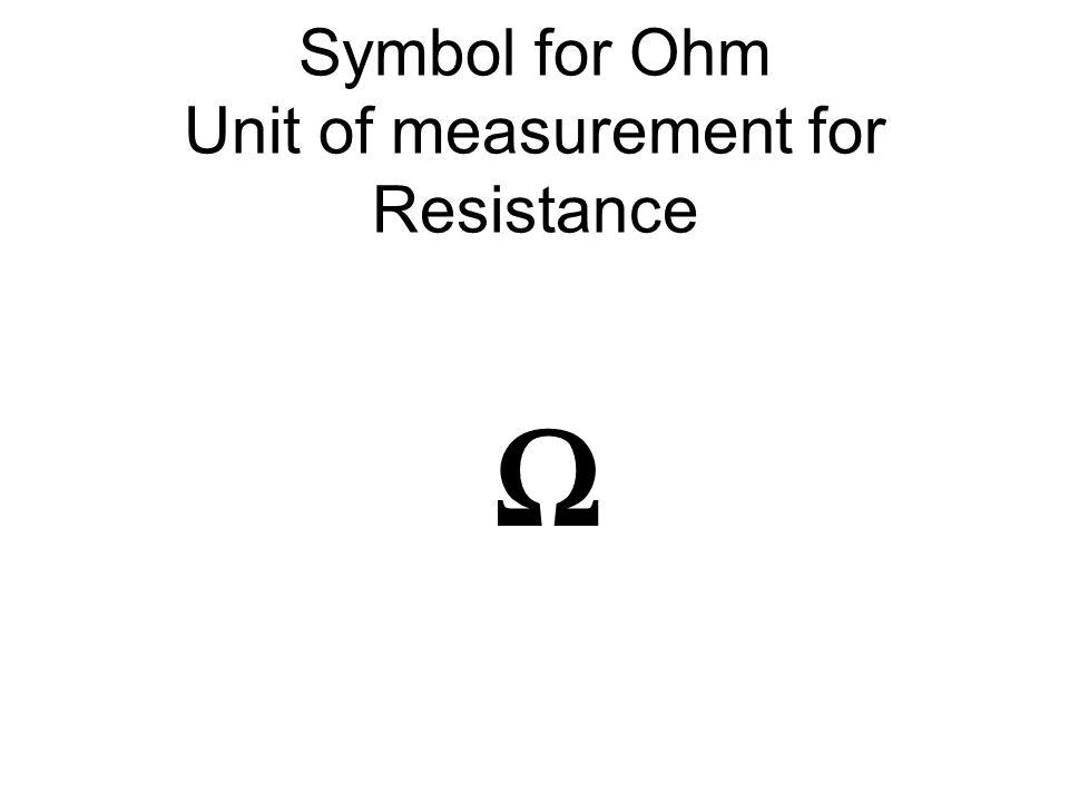 I Symbol For Current I V Symbol For Voltage V Ppt Download