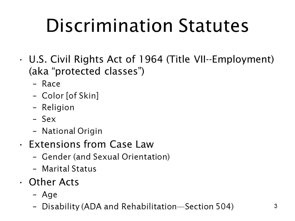 Human resources protected classes sexual orientation