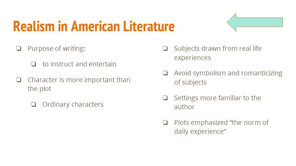 Realism English 11 The Difference American Literature Timeline The