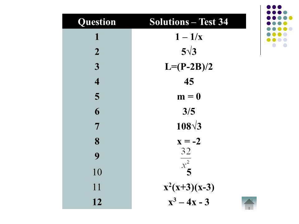 Non Calculator Tests Fourth Year Non Calculator Tests Click on a ...