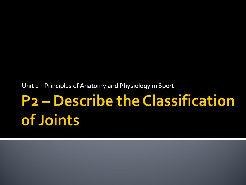 Unit 1 – Principles of Anatomy and Physiology in Sport. - ppt download