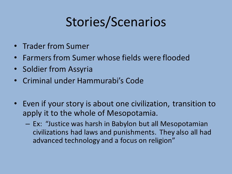 hammurabis code thesis statement