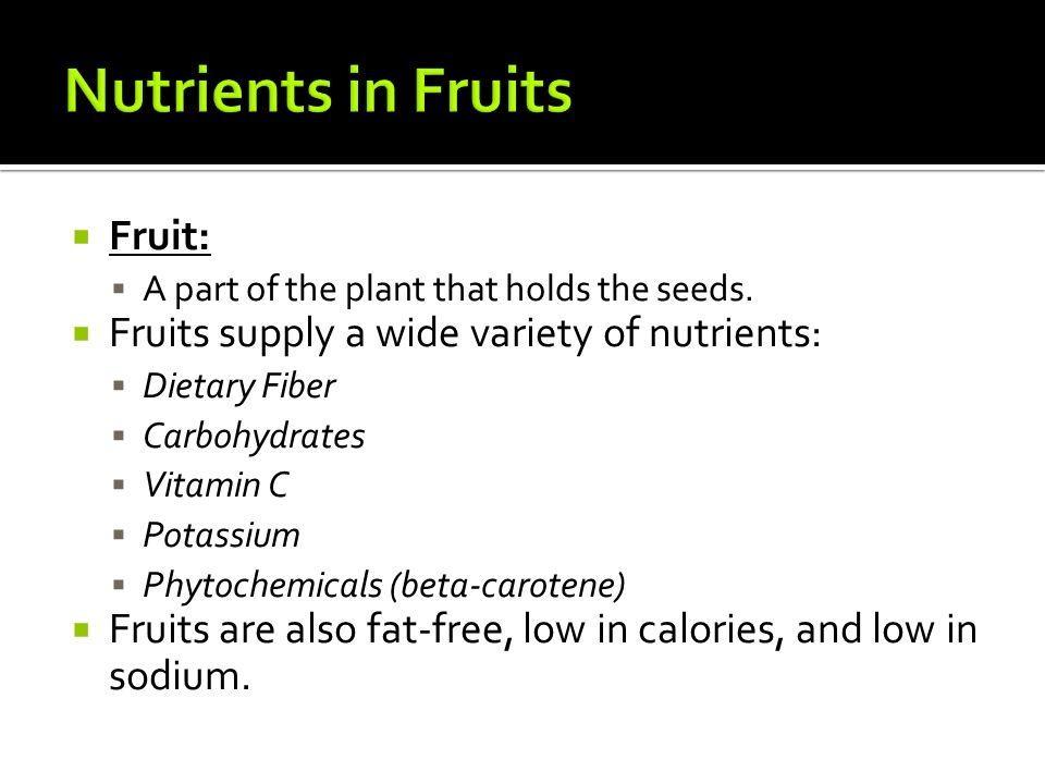 the six major nutrients