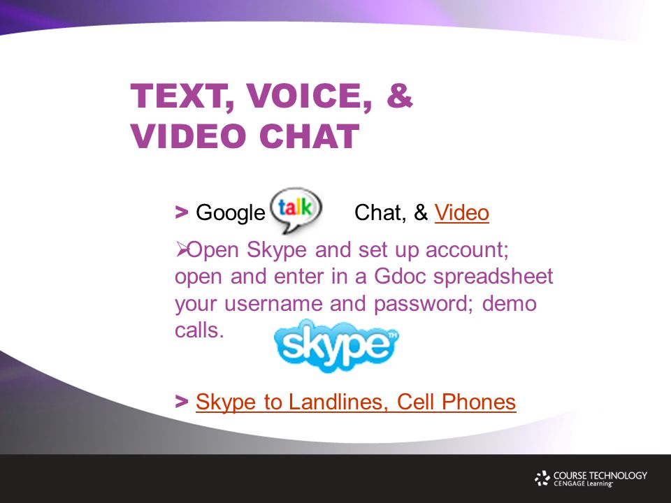 Free Online Collaboration Tools: Google, Skype, & Second Life  - ppt