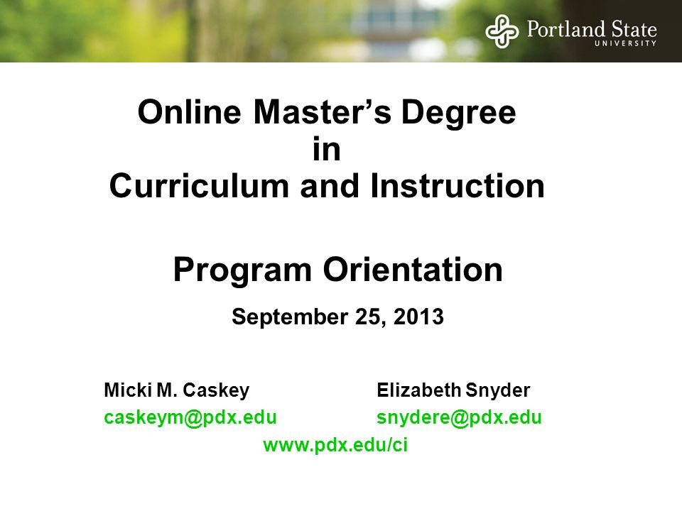 Online Masters Degree In Curriculum And Instruction Micki M
