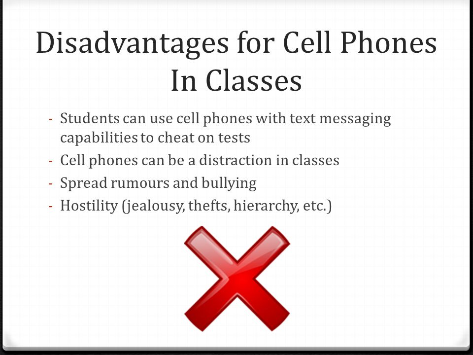 Cell Phone Usage In Class May 6 Th 2011 Grade 12 Applied Math