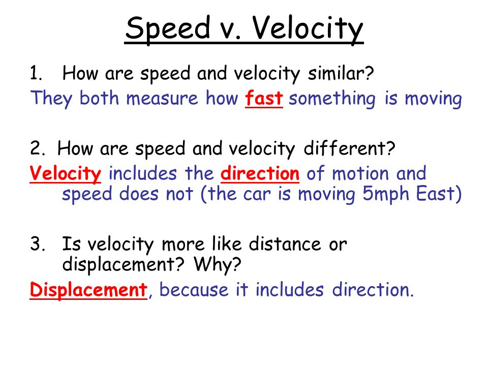 how is speed and velocity similar