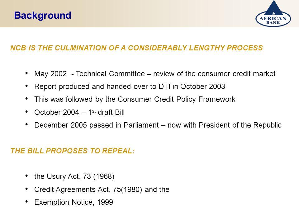 National Credit Bill Workshop March 2006 Tami Sokutu Ppt Download