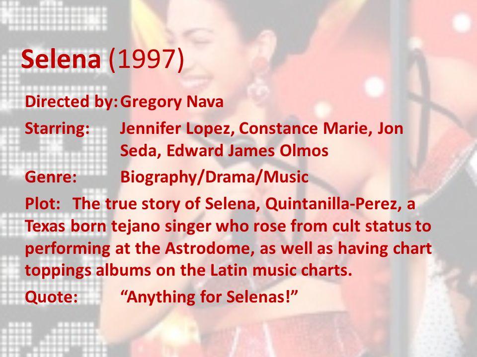 Musicals Selena 1997 Directed Bygregory Nava Starringjennifer