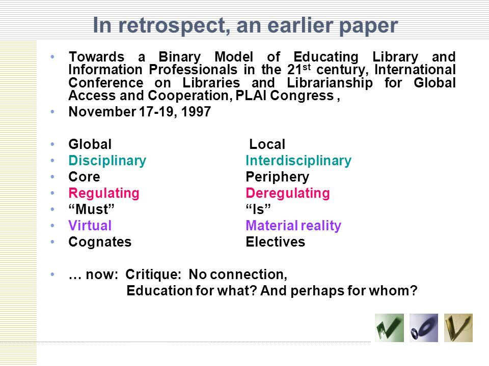 LIS Curriculum and Emerging Professional Competencies Marianita D