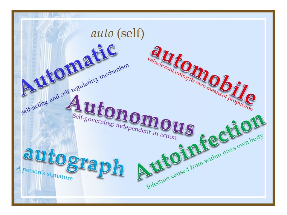 what is auto greek or latin