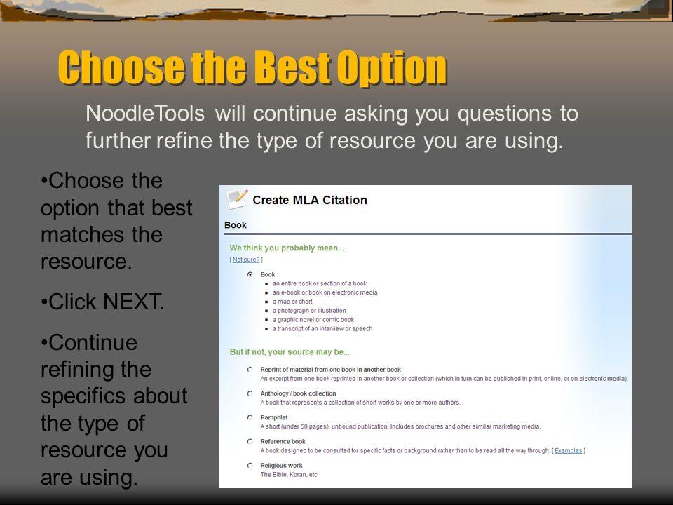 Noodle tools online citation builder how to get to noodletools 1 9 choose ccuart Choice Image