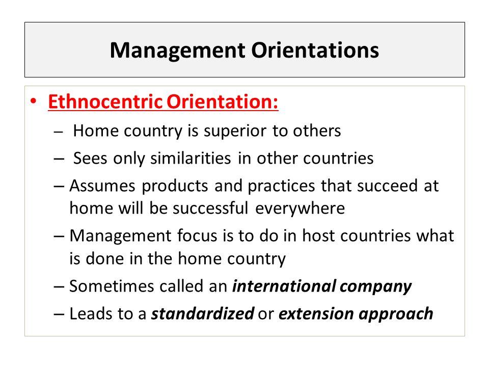 what is ethnocentric orientation