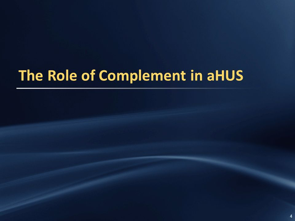 1 Atypical Haemolytic Uraemic Syndrome (aHUS) Overview of