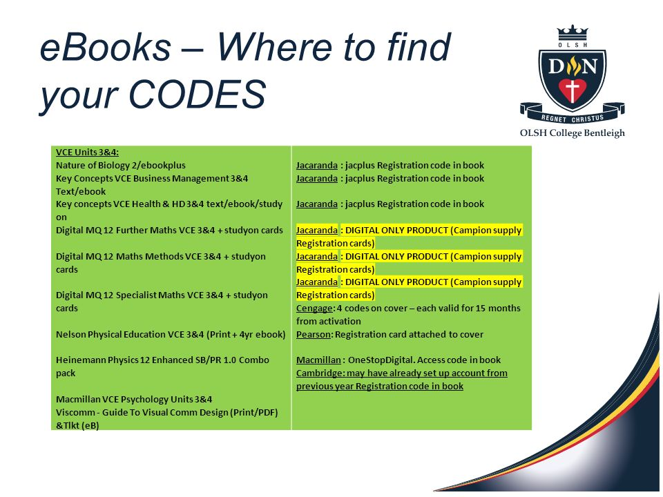 Ebooks campion if accounts have been set up in previous years 4 ebooks where to find your codes vce units fandeluxe Choice Image