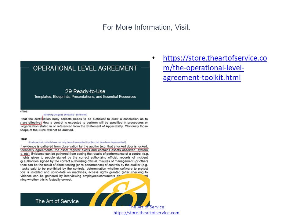 Operational Level Agreement Ppt Download