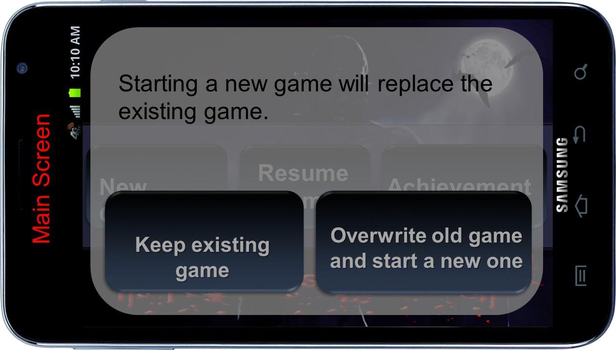New Game New Game Main Screen Resume Game Achievement S Achievement