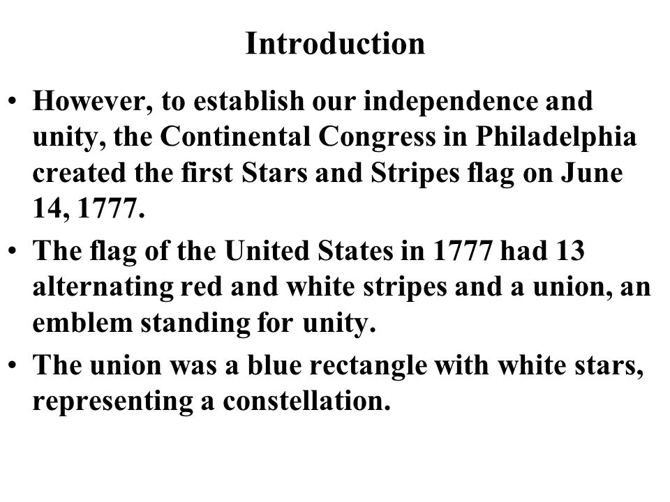 The Stars And Stripes Let I Introduction The Us Flag Is The Most