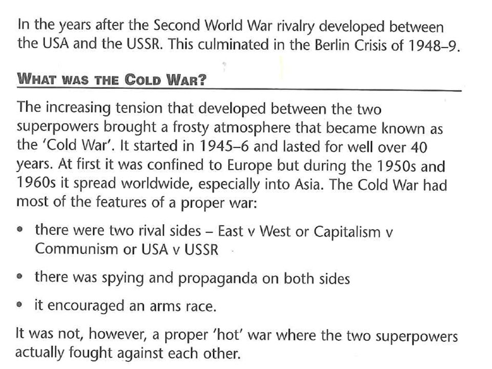 why was it called the cold war