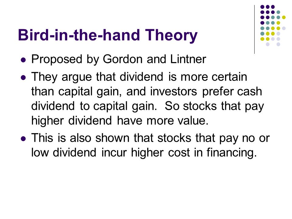 what is gordons bird in the hand fallacy quizlet