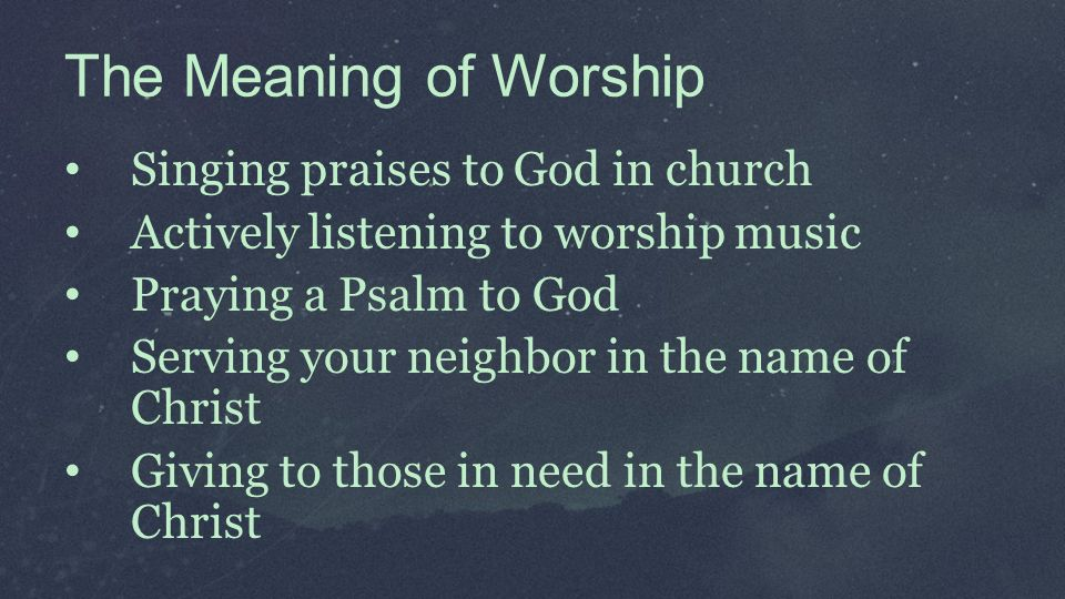 ABRAHAM'S WORSHIP CHAPTERS The Meaning of Worship