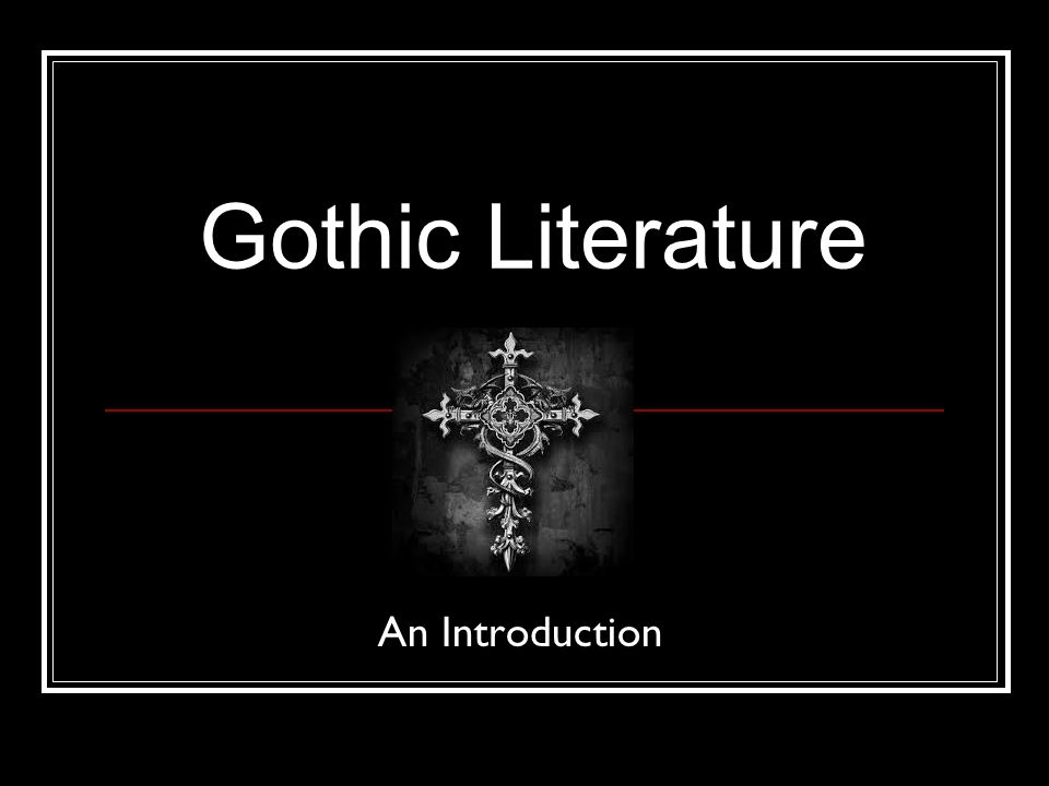 What is a gothic novel definition