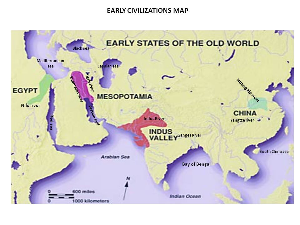 CLASS WORK Early civilizations: map activity (TEXT BOOK page 68) 1 ...