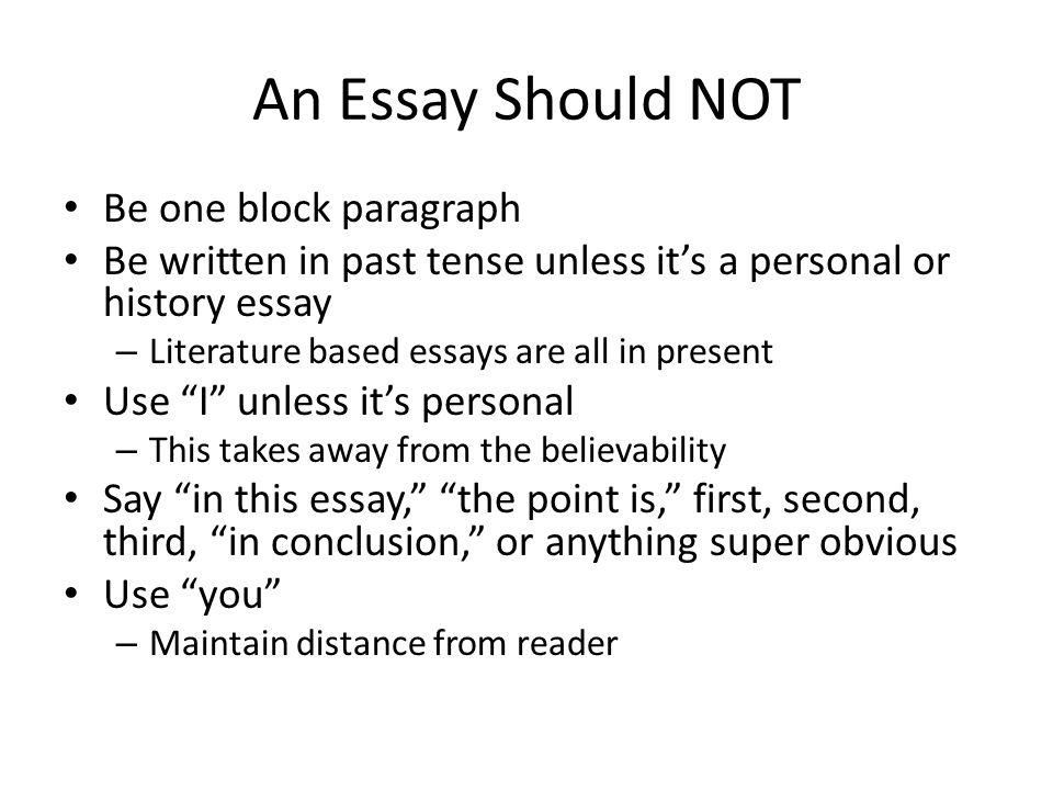 how should an essay be written