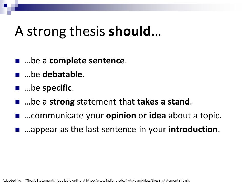 whats in a thesis statement