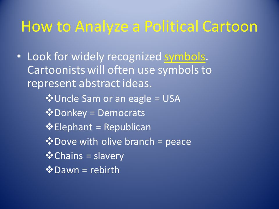 Understanding Editorial Cartoons  How to Analyze a Political