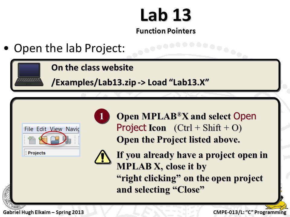 "CMPE-013/L: ""C"" Programming Gabriel Hugh Elkaim – Spring 2013 CMPE"