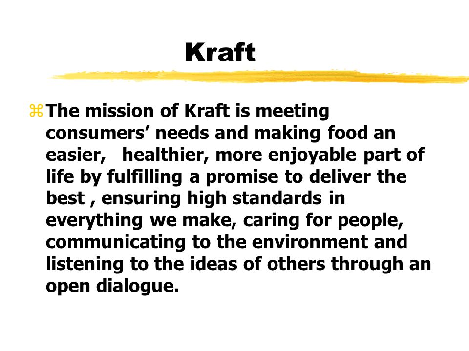 kraft foods mission statement