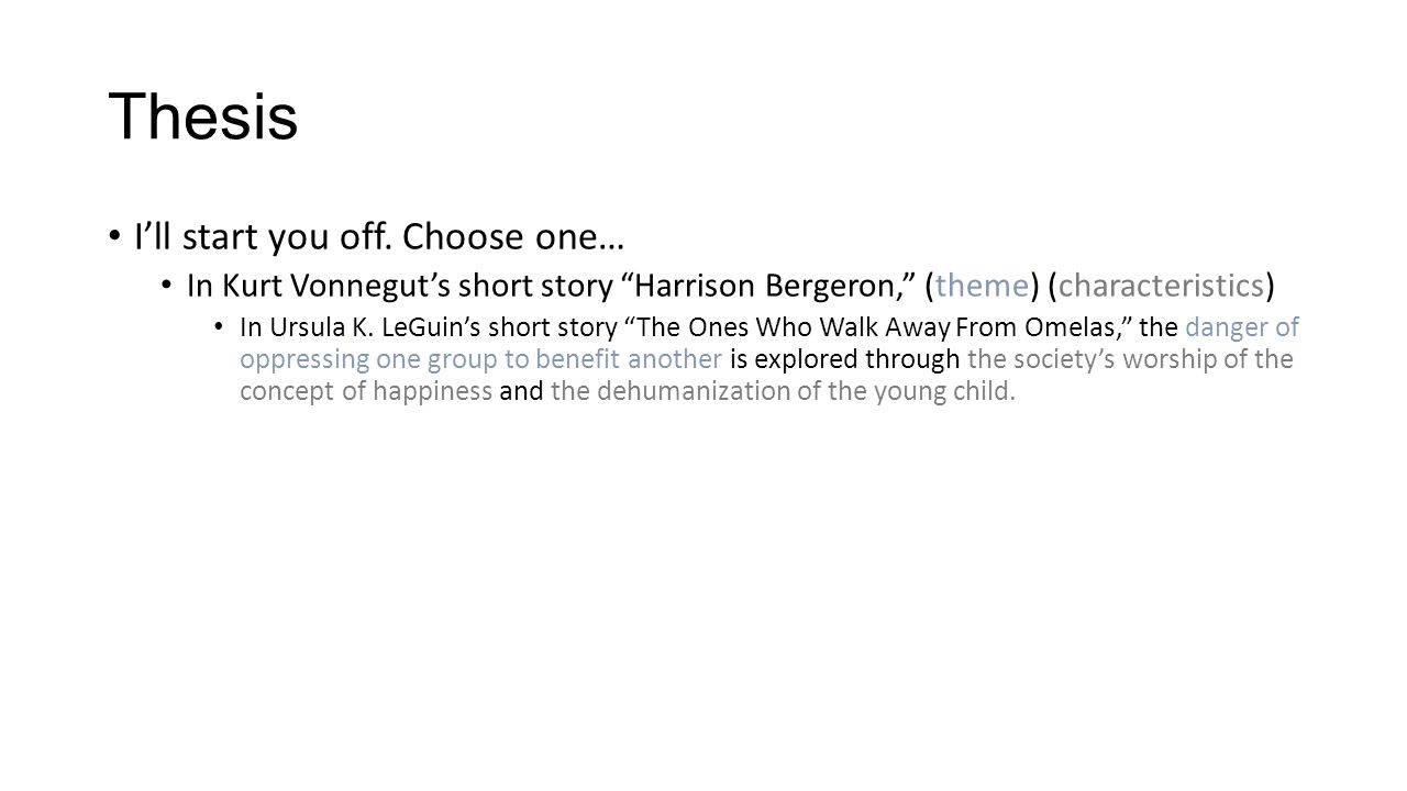 harrison bergeron literary devices