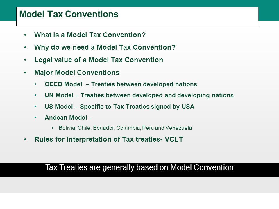 model tax convention