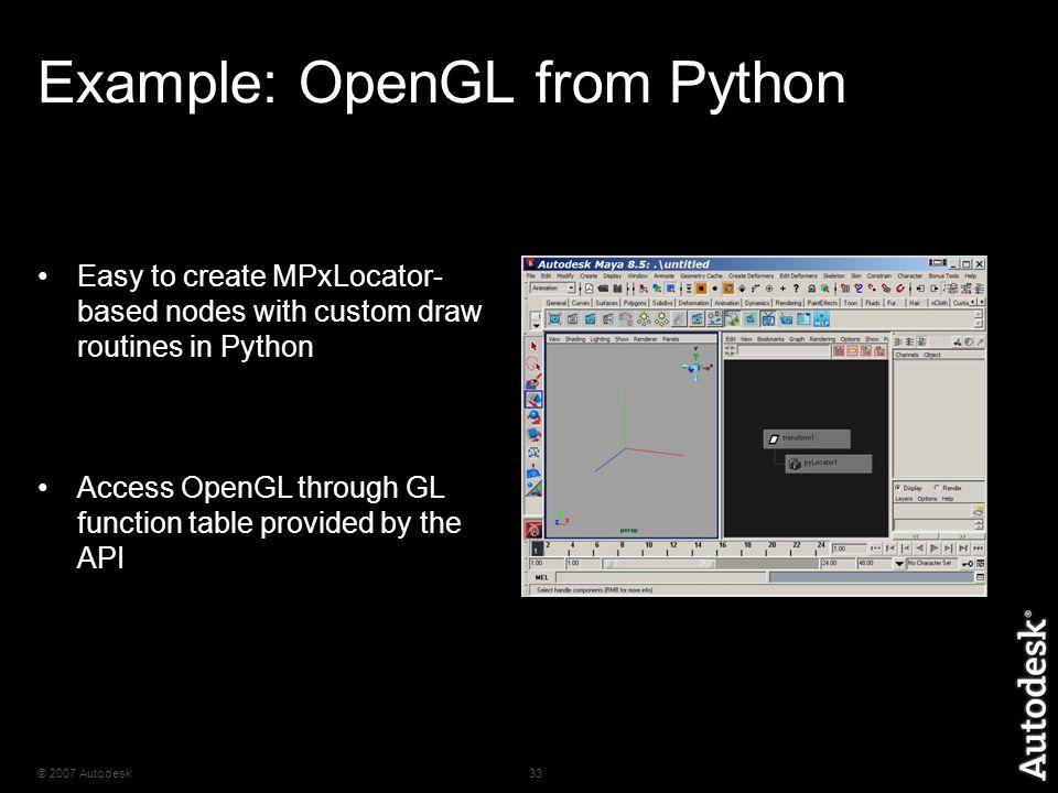 2007 Autodesk1 Python in Maya 1 Maya Python API Scripts  write