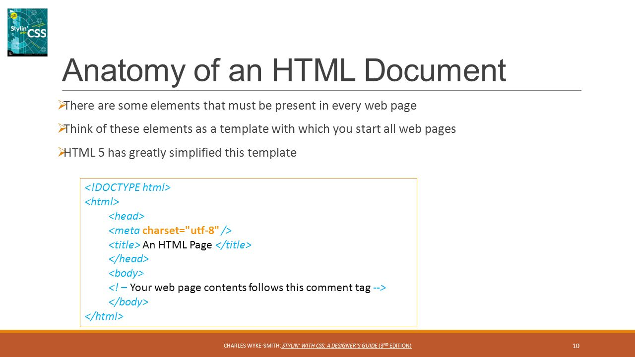 HTML Markup and Document Structure CHAPTER 1 1 CHARLES WYKE-SMITH ...