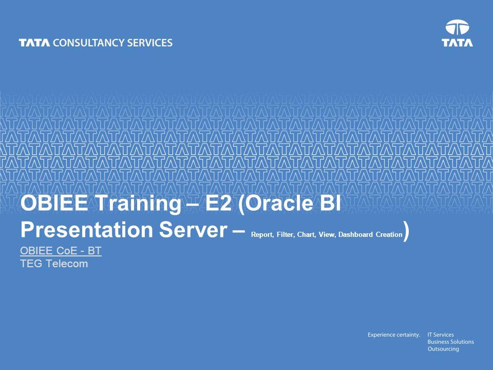 OBIEE Training – E2 (Oracle BI Presentation Server – Report
